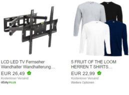 Fruit of the Loom: Fünferpack Langarm-Shirts für 22,99 Euro frei Haus