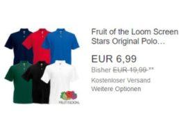 Fruit of the Loom: Poloshirts für 6,99 Euro frei Haus via Ebay