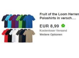 """Ebay: Poloshirts von """"Fruit of the Loom"""" für 8,99 Euro frei Haus"""