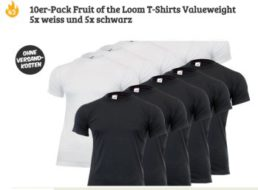 """Exklusiv: 10 T-Shirts von """"Fruit of the Loom"""" für 19,99 Euro frei Haus"""