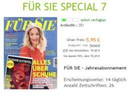 """""""Für Sie"""": Jahresabo gratis plus 5,95 Euro Versandkosten"""