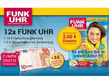 """Gratis: """"Funk Uhr"""" zwölf mal frei Haus mit 3,60 Euro Gewinn"""