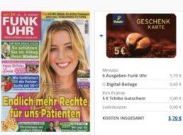 Funk Uhr: Sechs Ausgaben für 5,70 Euro mit Tchibo-Gutschein über 5 Euro