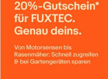 Ebay: Gartenartikel von Fuxtec für kurze Zeit mit 20 Prozent Rabatt