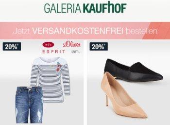 Galeria Kaufhof: Gratis-Versand ohne Mindestbestellwert, auch im Sale