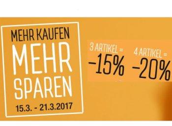 Galeria Kaufhof: 20 Prozent Rabatt beim Kauf von vier Artikeln