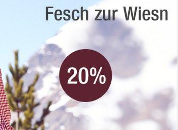 Galeria Kaufhof: 20 Prozent Trachten-Rabatt bis Dienstag