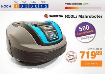 Plus: Gardena R50Li Mähroboter zum Bestpreis mit Extra-Gutscheinrabatt