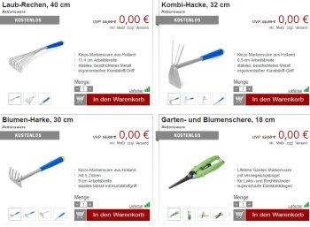 Druckerzubehoer.de: Garten-Spezial mit zwölf Artikeln für 0 Euro
