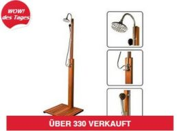 Ebay: Gartendusche mit FSC-Hartholz für 69,90 Euro frei Haus