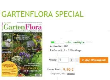 """Jahresabo: """"Gartenflora"""" jetzt zum Direktpreis von 9,90 Euro frei Haus"""