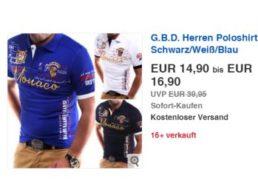 Ebay: G.B.D.Herren-Poloshirt für 14,90 Euro frei Haus