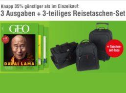 Gratis: Dreiteiliges Reisetaschenset zum Geo-Miniabo für 15,50 Euro