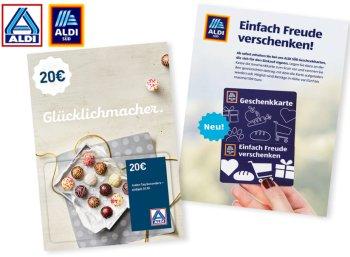 Aldi-Süd: Geschenkekarten in Kürze im Angebot
