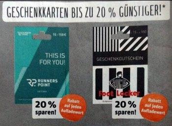 Rewe: Geschenkekarten für Starbucks & Co. mit bis zu 20 Prozent Rabatt