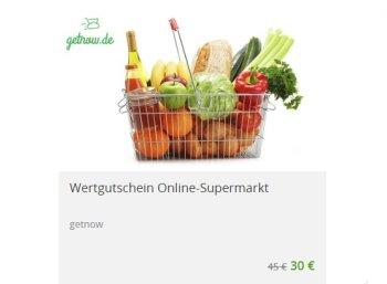 Getnow: Gutschein über 45 Euro für 30 Euro bei Groupon
