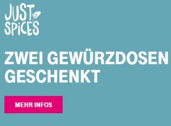 """Gratis: Zwei Gewürzdosen von """"Just Spices"""" für Telekom-Kunden geschenkt"""