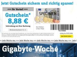 Conrad: Gigabyte-Woche mit 8,88 Euro Extra-Rabatt auf SSDs und mehr
