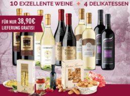 Giordano: 14 Weine und 4 Delikatessen für 39,90 Euro frei Haus