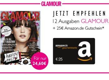 Glamour: 12 Ausgaben gratis frei Haus mit 40 Cent Gewinn dank Gutschein