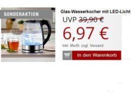 Druckerzubehoer.de: Glas-Wasserkocher mit LED-Licht für 12,94 Euro