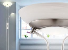 Ebay: Dimmbare LED-Standleuchte Globo 59022 mit Leselampe für 69,90 Euro