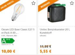 Globus Baumarkt: Gratis-Versand ab fünf Euro Warenwert