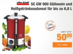 Plus: Glühweinautomat Efbe-Schott SC GW 900 für 50 Euro frei Haus