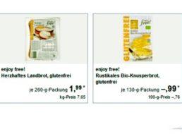 Aldi-Süd: Glutenfrei-Spezial mit vier Aktionsartikeln ab kommenden Montag