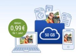 GMX: 50 GByte Cloudspeicher zum Jahrespreis von 99 Cent