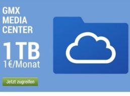 GMX: Ein TByte Cloudspeicher auf deutschen Servern für ein Euro im Monat