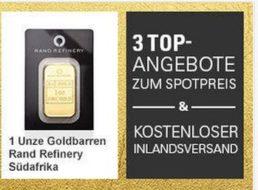 Ebay: Gold zum Spotpreis mit Gratis-Versand für wenige Tage