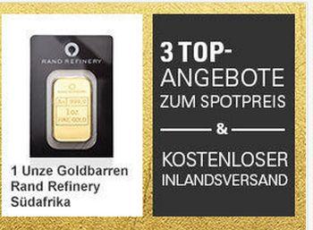 Gold zum Spotpreis mit Gratis-Versand für wenige Tage (Bild: Ebay.de)