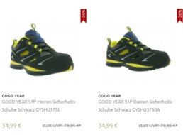Goodyear: Sicherheitsschuhe für 34,99 bis 39,99 Euro frei Haus