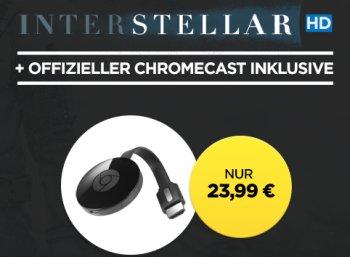 """Wuaki.tv: Google Chromecast und Film """"Interstellar"""" in HD für zusammen 23,99 Euro"""