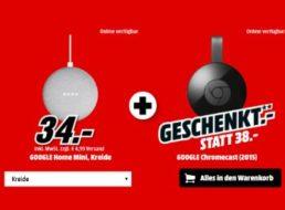 "Gratis: Google Chromecast zum ""Google Home Mini"" für 34 Euro"