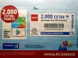 Penny: Bis zu 20 Euro in Payback-Punkten beim Kauf von Guthabenkarten