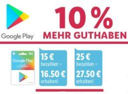 Lidl: 10 Prozent Guthaben geschenkt bei Google Play