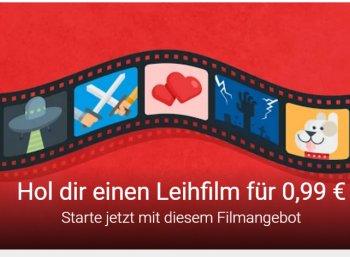 Google Play: Leihfilm für 99 Cent, nur für ausgewählte Kunden