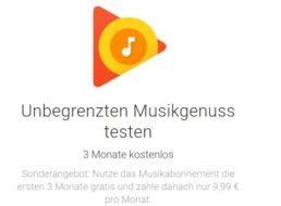 Gratis: Google Play Musik für 3 Monate zum Nulltarif