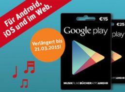 Rewe: Zwei Monate gratis Musik-Streaming bei Kauf einer Google-Play-Karte