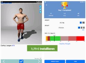 """Gratis: Heimtraining-App """"Gym Pro"""" für eine Woche zum Nulltarif"""
