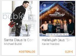 Google Play: 19 Weihnachtslieder für 29 Cent, eines gratis