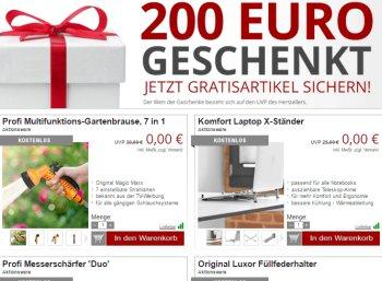 Druckerzubehoer.de: Gratis-Aktion mit Gartenbrausen und Laptop-Ständern