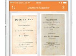 """Gratis: App """"Deutsche Klassiker in Erstausgaben"""" für iOS erschienen"""