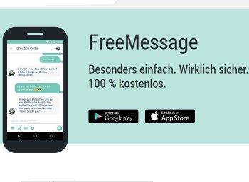 """Gratis: SMS mit neuer 1&1-App """"Freemessage"""" zum Nulltarif versenden"""