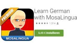 """Gratis: App """"Learn German with MosaLingua"""" im Wert von 5,49 Euro"""