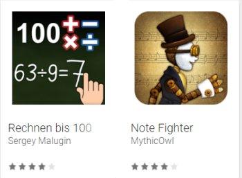 Gratis: Lern-Apps für Musik und Mathe bei Google Play zu Nulltarif