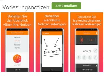 """Gratis: App """"Vorlesungsnotizen"""" für kurze Zeit zum Nulltarif"""