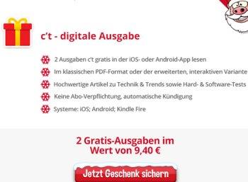 """Gratis: Zwei Gratis-Ausgaben der """"ct"""" im Heise-Adventskalender"""